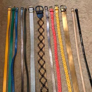 Assortment of belts.